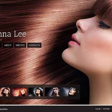 Hair Salon Moto CMS HTML Template #44622