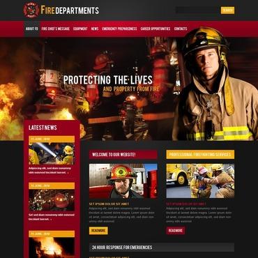 Fire Department Flash CMS Template