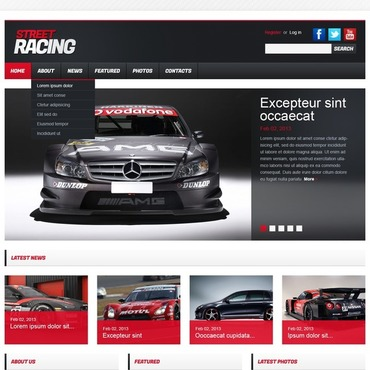 Car Racing Flash CMS Template