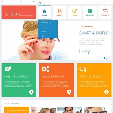 Flat Consulting WordPress Theme #44910