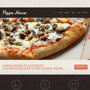 Pizza Responsive Drupal Template