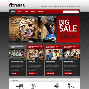 Fitness Responsive Jigoshop Theme