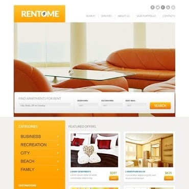 Real Estate Agency Responsive Website Template