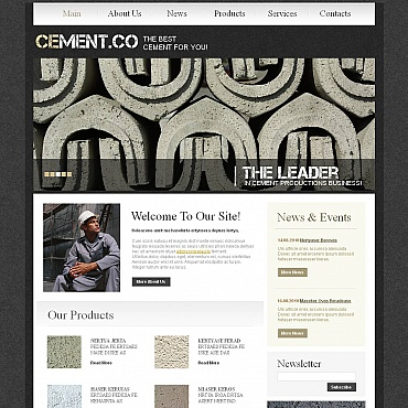 Cement Moto CMS HTML Template
