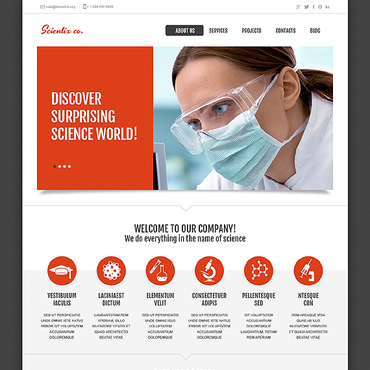 Science Responsive Website Template