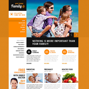 Family Center Responsive Website Template