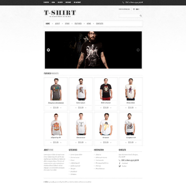 T-shirt Shop Responsive Jigoshop Theme