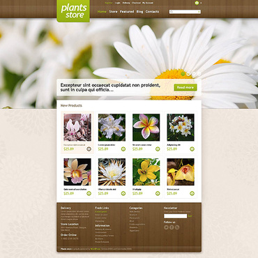 Flower Shop Responsive Jigoshop Theme
