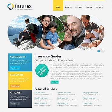 Insurance Moto CMS HTML Template #45354
