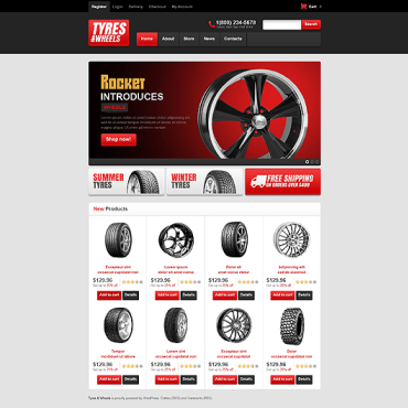 Wheels & Tires Responsive Jigoshop Theme