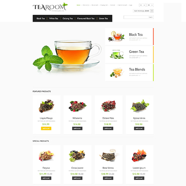 Tea Shop Responsive OpenCart Template