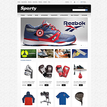 Sports Store ZenCart Template