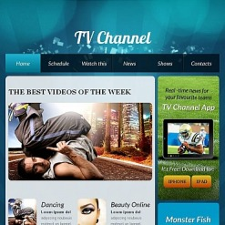 TV Channel Facebook HTML CMS Template