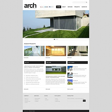 Real Estate Agency Flash CMS Template