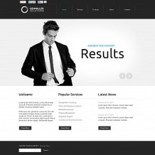 Accounting Website Flash CMS Template