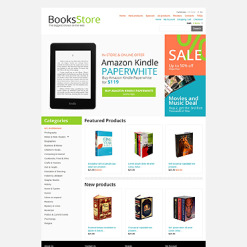 Book Store ZenCart Template