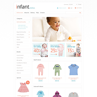 Newborn VirtueMart Template