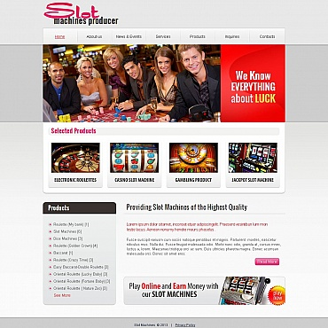 Slot Machines Moto CMS HTML Template