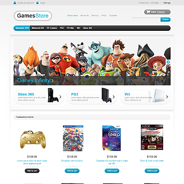 Games VirtueMart Template