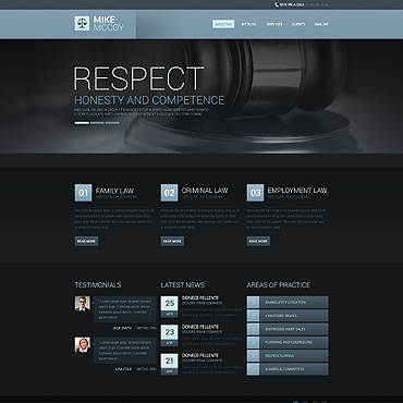 Law Firm Responsive Drupal Template