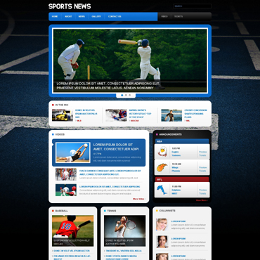 Sports News Responsive Website Template