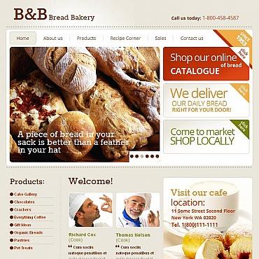 Bakery Facebook HTML CMS Template