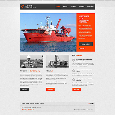 Industrial Wix Website Template