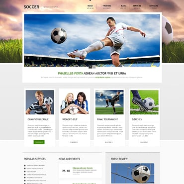 Soccer Responsive WordPress Theme