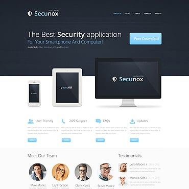 Information Security Responsive Drupal Template