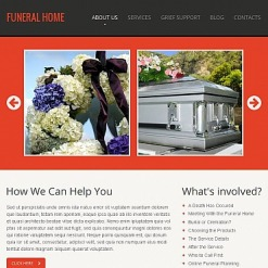 Funeral Services Facebook HTML CMS Template