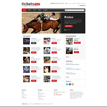 Tickets Website Responsive Jigoshop Theme