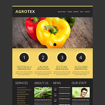 Vegetable Responsive Drupal Template