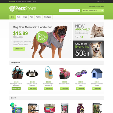 Pet Shop Responsive Magento Theme