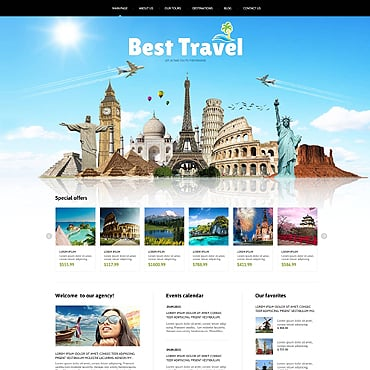 Travel Agency Responsive Joomla Template