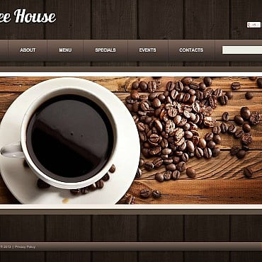Coffee Shop Flash CMS Template