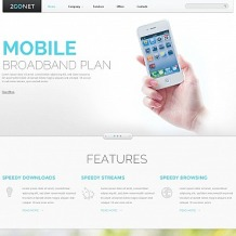 Mobile Company Flash CMS Template
