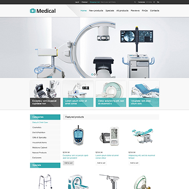 Medical Equipment ZenCart Template