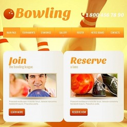Bowling Facebook HTML CMS Template