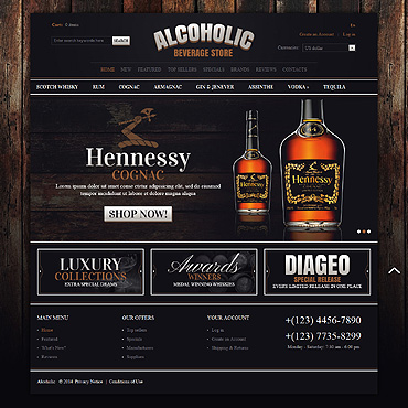 Food & Drink OsCommerce Template