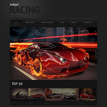 Car Racing Moto CMS HTML Template