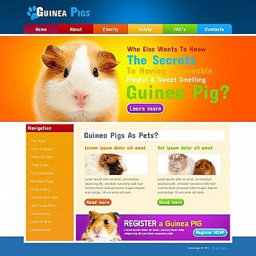 Guinea Pigs Moto CMS HTML Template