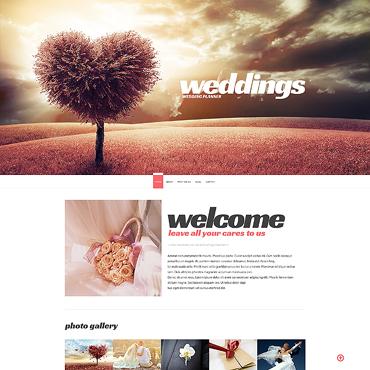Wedding Planner Responsive Website Template