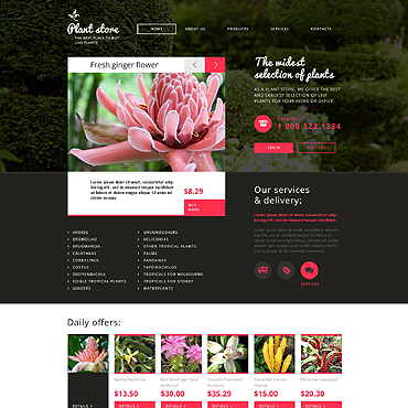 Flower Shop Responsive Website Template