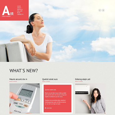 Air Conditioning Responsive WordPress Theme #47018