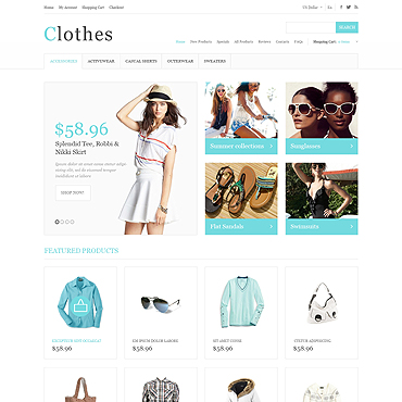 Summer Clothing ZenCart Template #47070