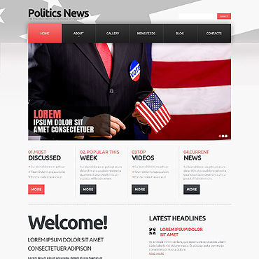 Political News Responsive Joomla Template #47118