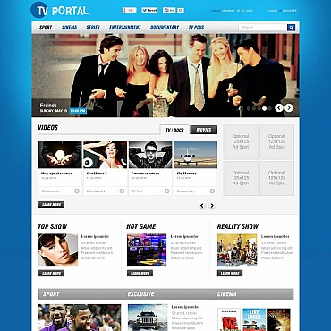 TV Channel Flash CMS Template