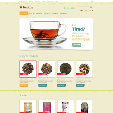 Tea Shop OpenCart Template