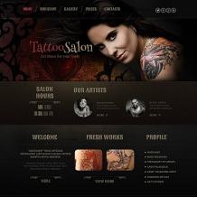 Tattoo Salon Moto CMS HTML Template