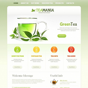 Tea Shop Moto CMS HTML Template
